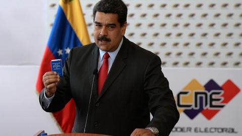 Nicolas Maduro in press conferente, March 2, 2018